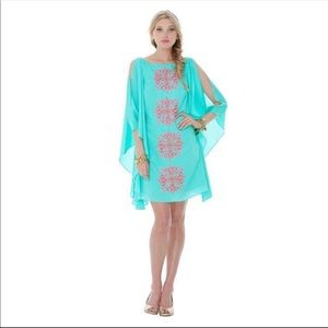 Lilly Pulitzer Crystal Water Flamingo Panel Dress